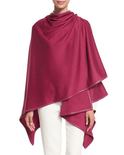 Madison Cashmere-Blend Wrap, Fresh Berry