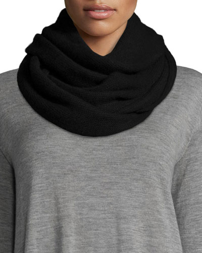 Cashmere Infinity Scarf, Black