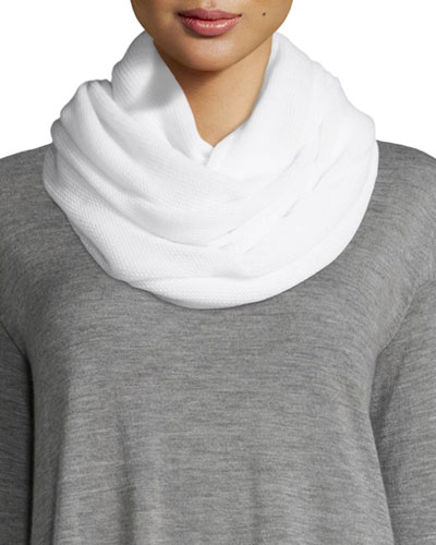 Cashmere Infinity Scarf, White