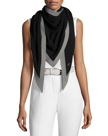 Summer Cashmere/Silk Scarf, Black/Gray