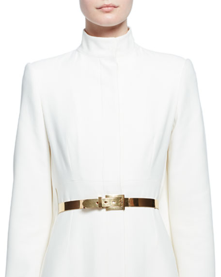 Alexander McQueen Golden Metal Buckle Belt