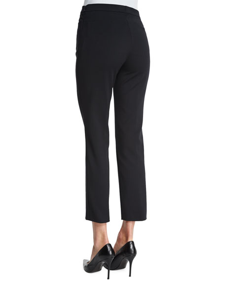 Franca High-Waist Cropped Pants, Black