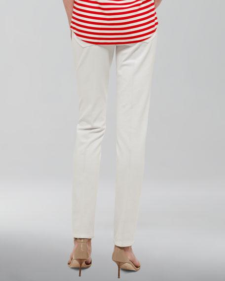 Margaret Straight-Leg Jeans, Ecru