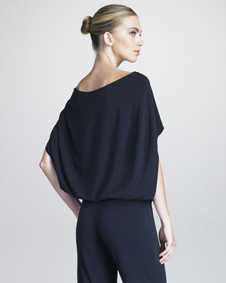 Batwing-Sleeve Blouson Top