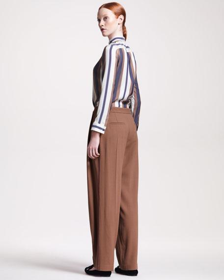 Jacquard-Stripe Blouse