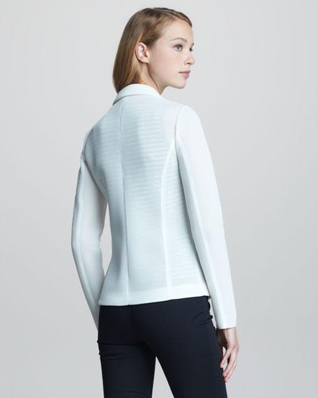 Sporty Mesh-Weave Jacket