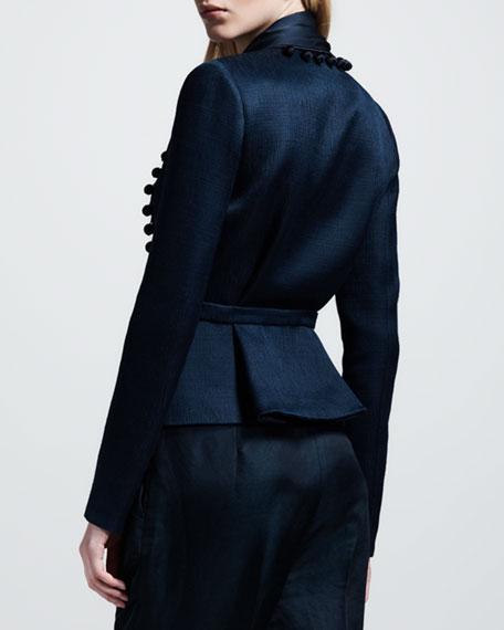 Pompom-Trim Drawstring Jacket