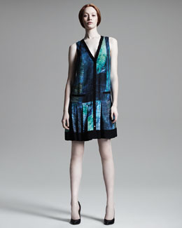 Proenza Schouler Printed Snap-Front Dress