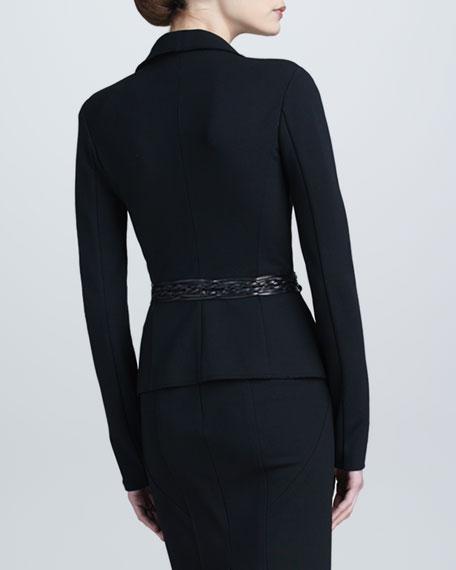 Draped Lapel Jacket, Black