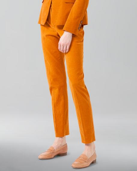 Cotton-Cashmere Corduroy Pants