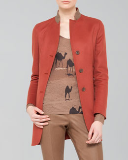 Akris Long Double-Face Cashmere Jacket