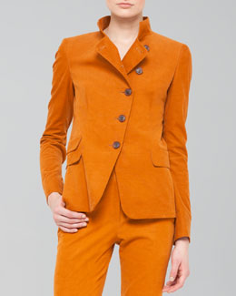 Akris Cotton-Cashmere Corduroy Jacket