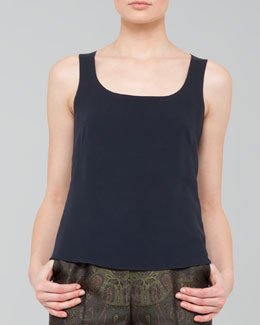 Akris Georgette Scoop-Neck Tank