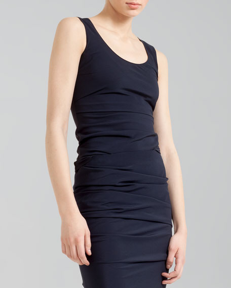 Ruched Combo Scoop-Neck Top