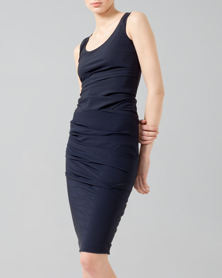 Ruched Combo Pencil Skirt