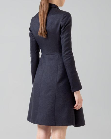 Silk Ottoman A-Line Coat Dress