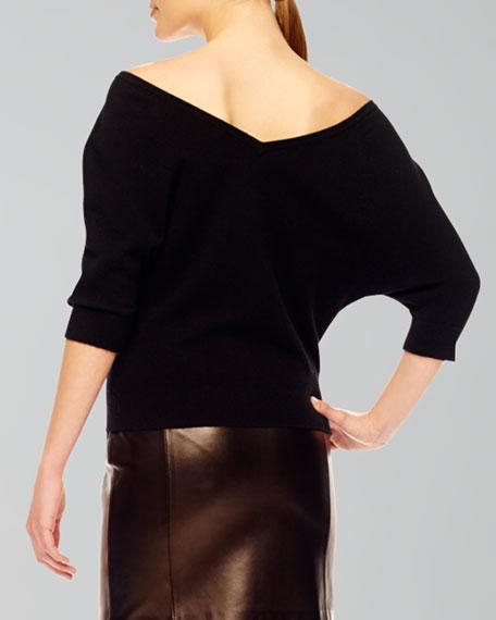 Off-The-Shoulder Cashmere Top