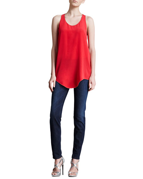 Slash-Pocket Skinny Jeans