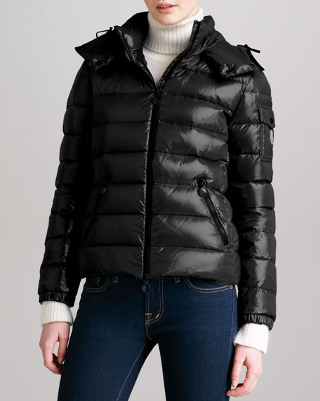 Short Puffer Jacket with Hood