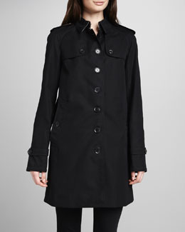 Burberry London Single-Breasted Gabardine Trench Coat
