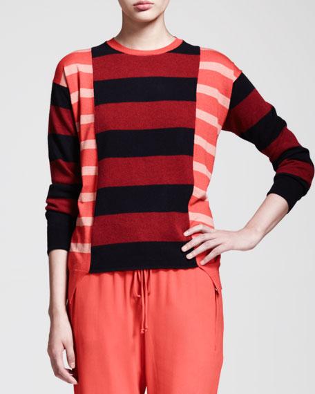 Block-Stripe Tunic Sweater