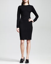 Stella McCartney Classic Long-Sleeve Jersey Sheath Dress