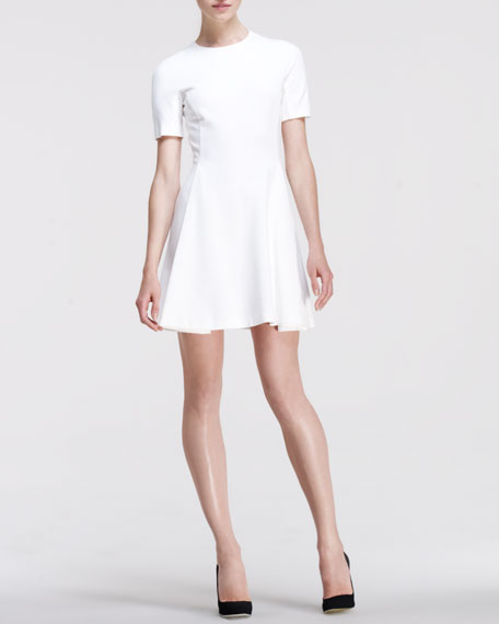 Short-Sleeve Fit-and-Flare Dress