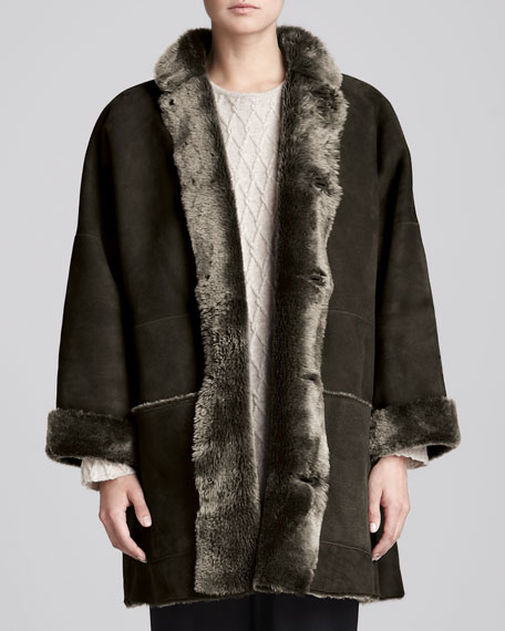 Imperial Coat with Shearling Collar