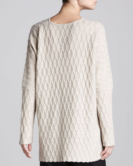 Serpent Cable-Knit Cashmere Poncho