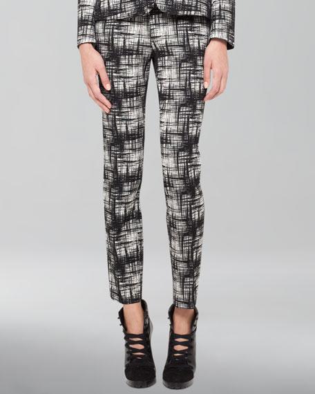 Franca Crosshatch-Print Pants