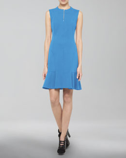 Akris punto Dropped-Flare Zip Dress