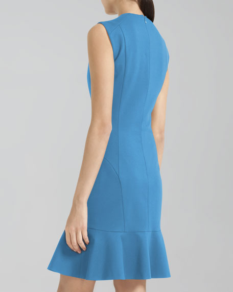 Dropped-Flare Zip Dress