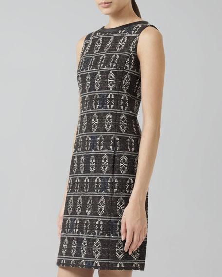 Tribal Jacquard-Print Shift Dress