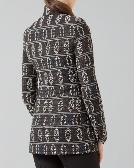 Tribal-Print Zip Jacket