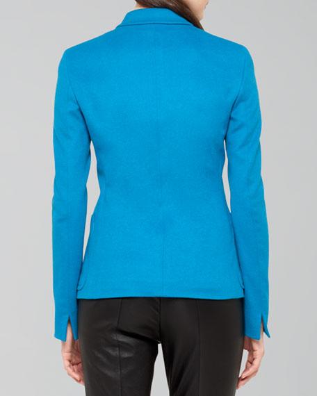 Two-Button Wool Blend Blazer