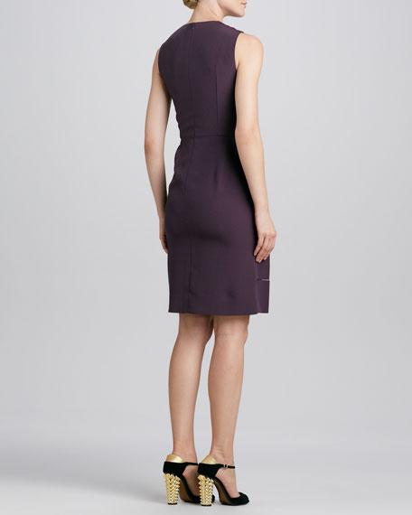 Sleeveless Ribbon-Skirt Dress