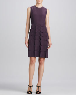 FENDI Sleeveless Ribbon-Skirt Dress