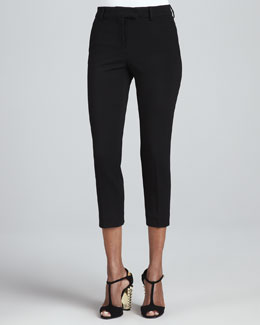 Fendi Cropped Skinny Trousers