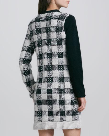 Plaid Colorblock Knit Dress