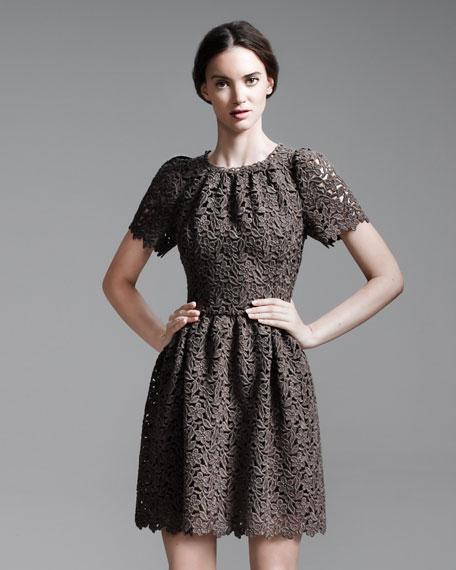 Full-Skirt Macrame Dress