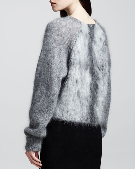 Furry Spine Pullover Sweater