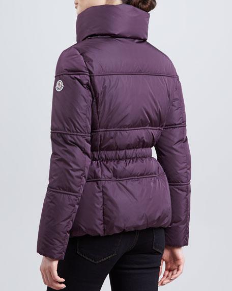 Hip-Length Puffer Jacket, Plum