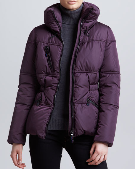 moncler purple puffer jacket