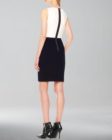 Two-Tone Crepe Dress