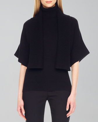Rib-Trim Open Shrug