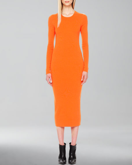 Formfitting Stretch-Wool Dress