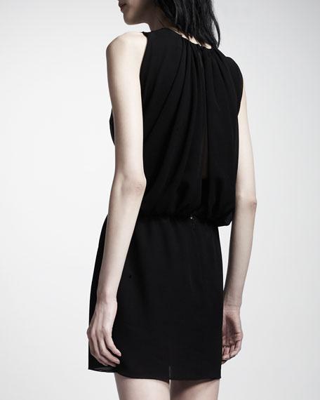 Sleeveless Lace-Inset Dress