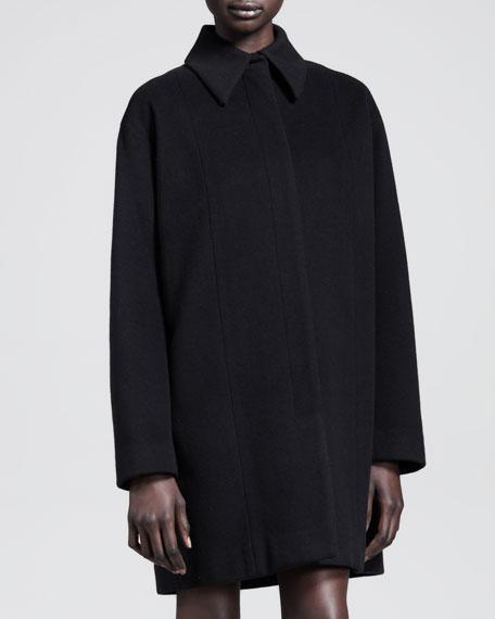Long Rounded-Shoulder Coat