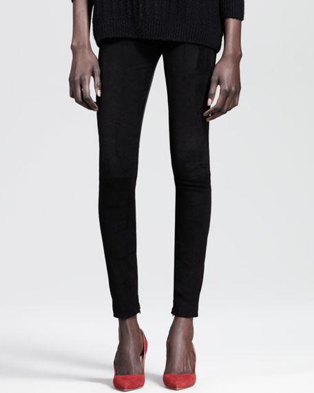 Ankle-Zip Combo Skinny Pants