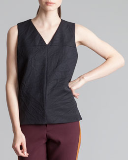 Marni Tabbed Sleeveless Top, Coal
